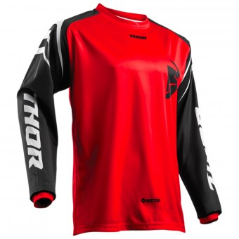 Camiseta Motocross Thor Sector Zones Red Niño