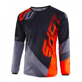 Camiseta Motocross SHOT Devo Ultimate Negro Neon Naranja