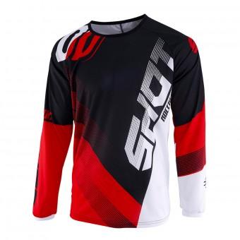 Camiseta Motocross SHOT Devo Ultimate Negro Rojo