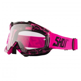 Gafas motocross SHOT Assault Mist Neon Pink Black
