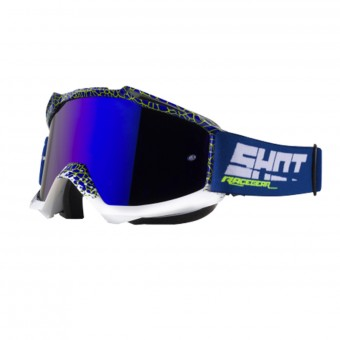 Gafas motocross SHOT Iris Dunkle Blue Neon Yellow Iridum Blue