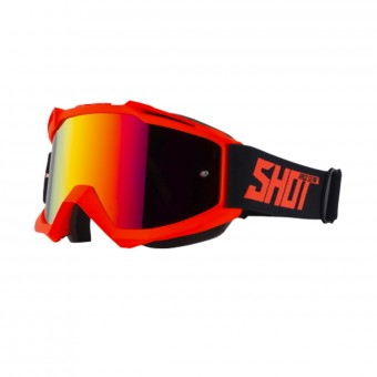 Gafas motocross SHOT Iris Neon Orange Matt Iridium Red