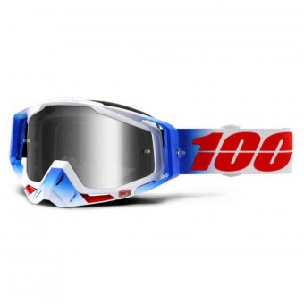 Gafas motocross 100% Racecraft Fourth Mirror Silver