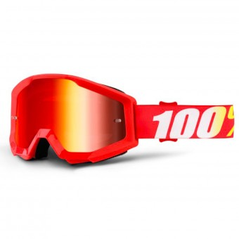 Gafas motocross 100% Strata Furnace Mirror Red Lens