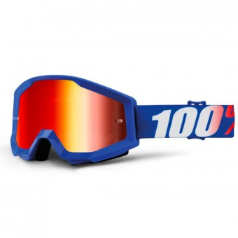 Gafas motocross 100% Strata Nation Mirror Blue Lens