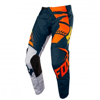 Pantalón motocross FOX 180 Sayak Orange Pant Niño 009