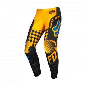 Pantalón motocross FOX 180 Czar Negro Amarillo Pant Niño