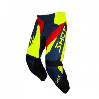 Pantalón motocross SHOT Devo Alert Blue Red Neon Yellow Pant