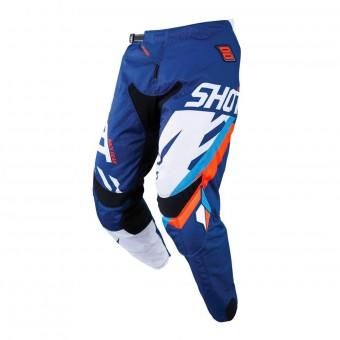 Pantalón motocross SHOT Contact Score Azul Neon Naranja Pant
