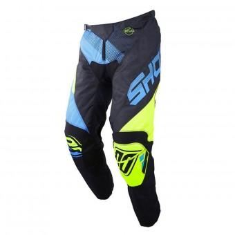 Pantalón motocross SHOT Devo Ultimate Azul Neon Amarillo Pant Niño