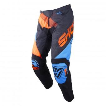 Pantalón motocross SHOT Devo Ultimate Azul Neon Naranja Pant Niño