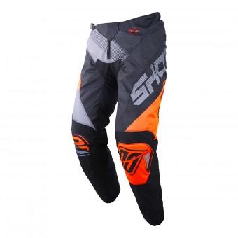 Pantalón motocross SHOT Devo Ultimate Negro Neon Naranja Pant Niño