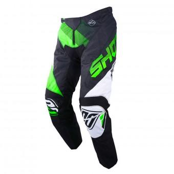 Pantalón motocross SHOT Devo Ultimate Negro Neon Verde Pant Niño