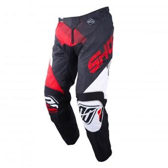 Pantalón motocross SHOT Devo Ultimate Negro Rojo Pant Niño