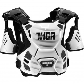 Peto motocross Thor Guardian White Black