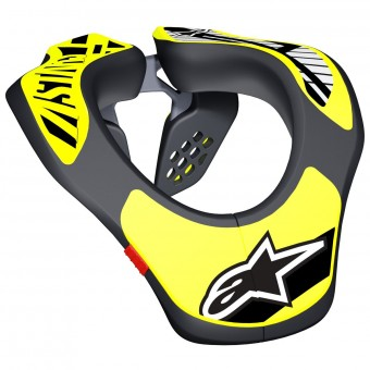 Collarines  Alpinestars Youth Neck Support Black Yellow Fluo