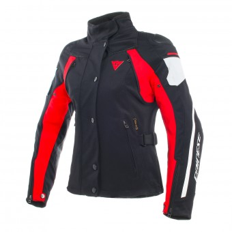Cazadora moto Dainese Rain Master Lady D-Dry Black Grey Red