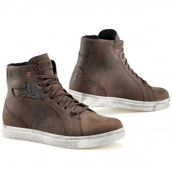 Deportivas Moto TCX Street Ace Waterproof Dakar Brown