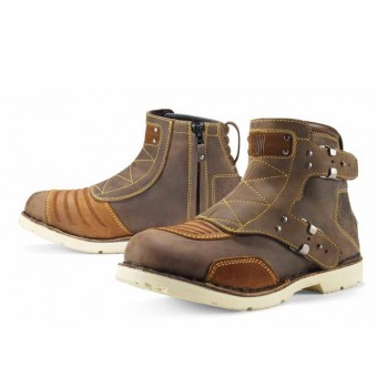 Botas Moto  ICON El Bajo Oiled Brown