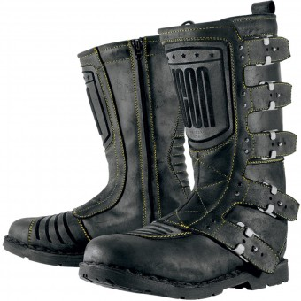 Botas Moto  ICON Elsinore Johnny Black