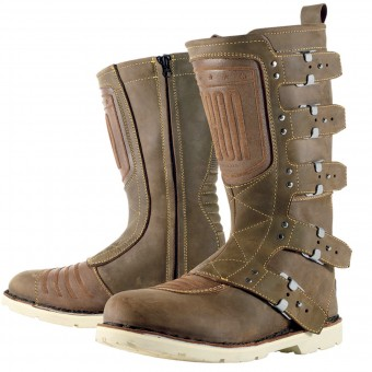 Botas Moto  ICON Elsinore Oiled Brown