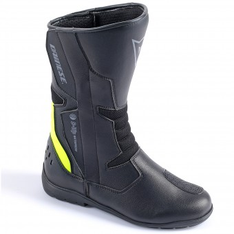 Botas Moto  Dainese Tempest Lady D-Waterproof Black Yellow Fluo