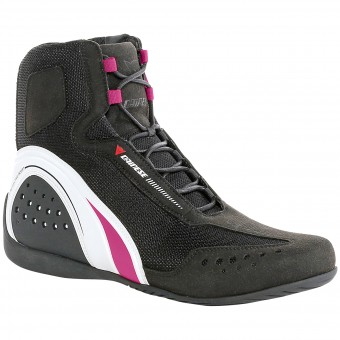 Calzado Moto Dainese Motorshoe Air Lady Black White Fuschia