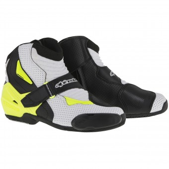Botines Alpinestars SMX-1 R Vented Black White Yellow Fluo