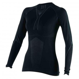 Camiseta térmica Dainese D-Core Thermo Tee LS Lady Black Anthracite