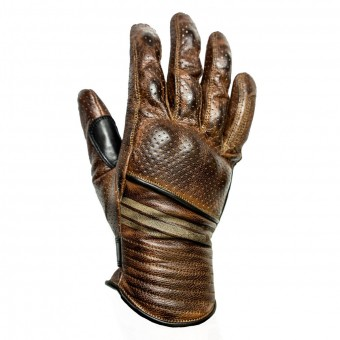 Guantes moto Helstons Corporate Perfore Camel Negro