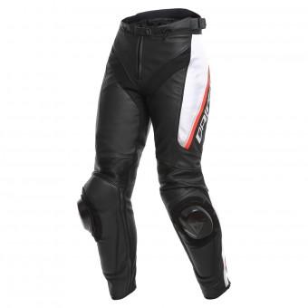 Pantalones moto Dainese Delta 3 Black White Red
