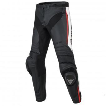 Pantalones moto Dainese Misano Black White Red Fluo