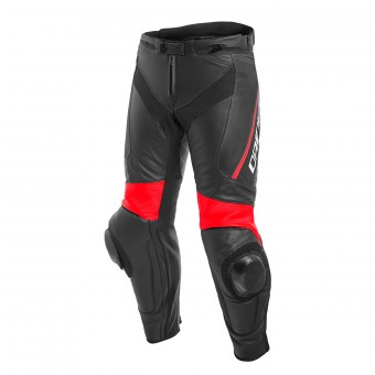 Pantalones moto Dainese Delta 3 Black Fluo Red