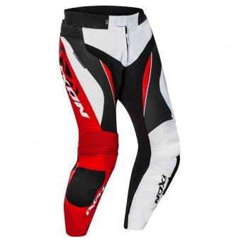 Pantalones moto Ixon Falcon Pant Blanco Negro Rojo