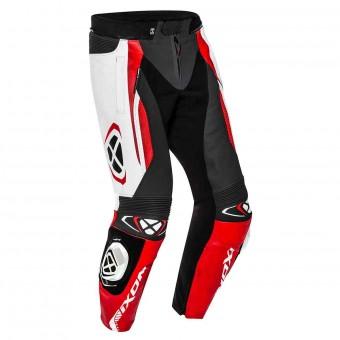 Pantalones moto Ixon Vortex 2 Pant Negro Blanco Rojo