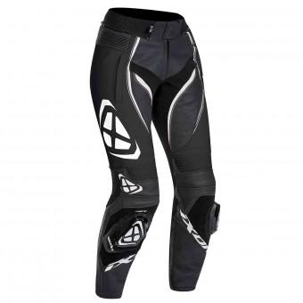 Pantalones moto Ixon Vortex Lady Pant Negro Blanco