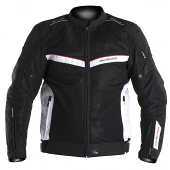 Cazadora moto V'Quattro VE-51 Black White Red