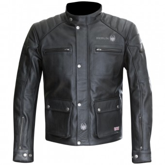 Cazadora moto Merlin Keele Leather Black