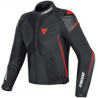 Cazadora moto Dainese Super Rider D-Dry Black Red Fluo
