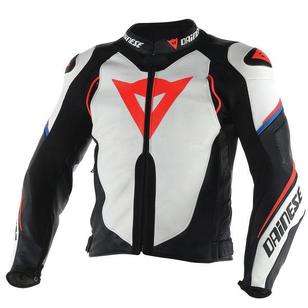 07b2e33d5b7 Cazadora moto Dainese Super Speed D1 White Black Red Fluo Al Mejor ...