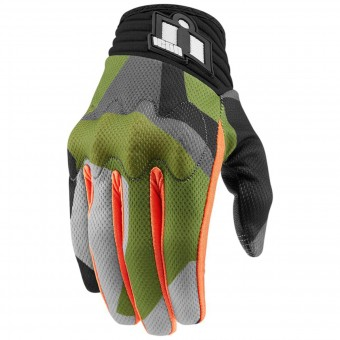 Guantes moto ICON Deployed Green