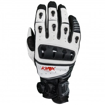Guantes moto Knox Orsa Leather White