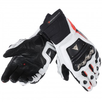 Guantes moto Dainese Race Pro In Black Red Fluo White