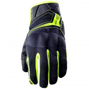Guantes moto Five RS3 Black Yellow Fluo