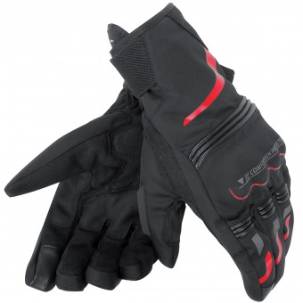 Guantes moto Dainese Tempest Unisex D-Dry Short Black Red