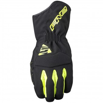 Guantes moto Five WFX3 WP Black Yellow Fluo