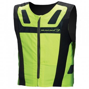 Chaleco moto Macna Vision 4 All Plus Neon Yellow