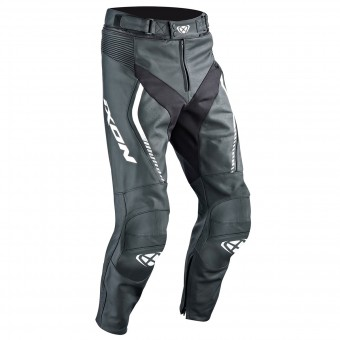 Pantalones moto Ixon Fighter Pant Black White
