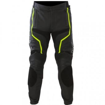 Pantalones moto Bering Flash Pant Negro Amarillo Fluo
