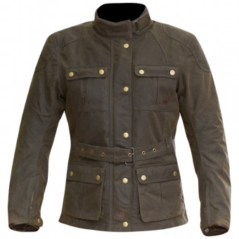 Cazadora moto Merlin Ashley Wax Lady Olive